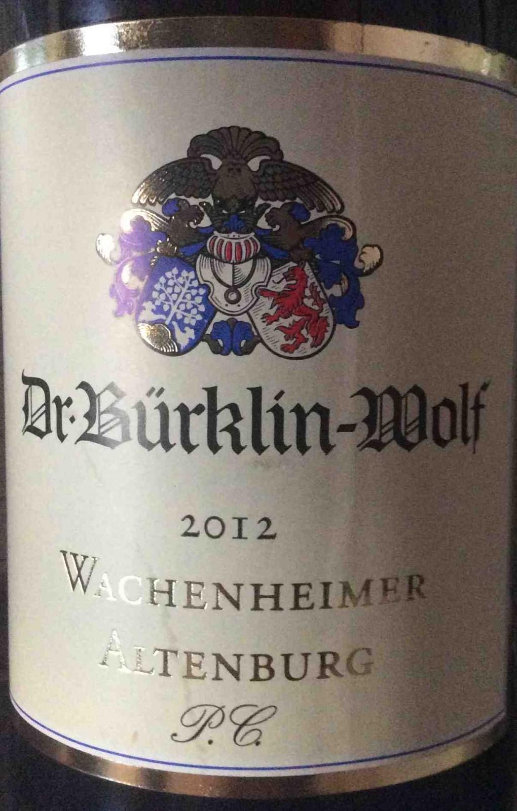 Wachenheimer Altenburg PC 2012 Buerklin-Wolf