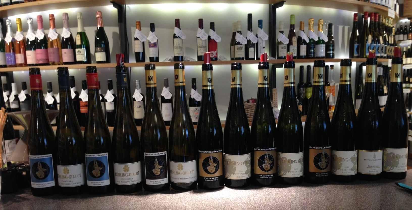 Weinfurore Verkostete Weine